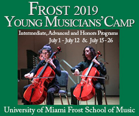 University of Miami Frost summer young musicians camp
