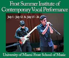 University of Miami summer vocal camp