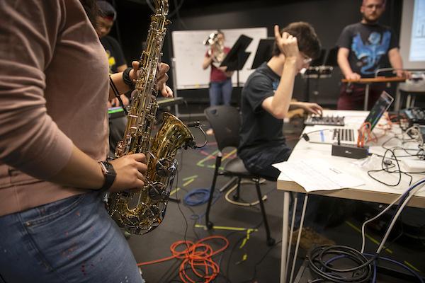 Carnegie Mellon University sax student