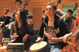 DePauw music percussion