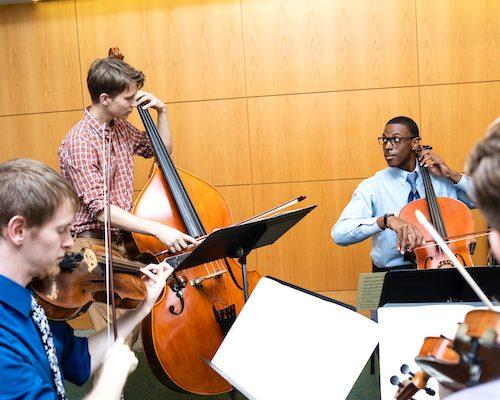 Ithaca College music cello student