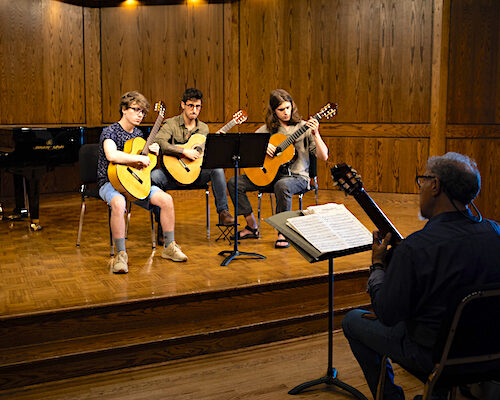 Ithaca College music guitar students