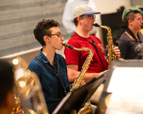 Ithaca College music saxophone students