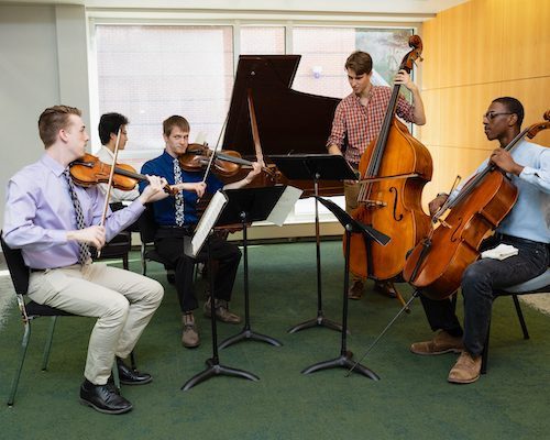 Ithaca College music string students