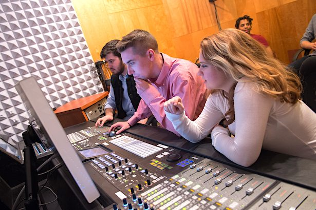 Syracuse University Setnor School of Music audio lab