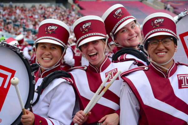 Temple University music - marching band