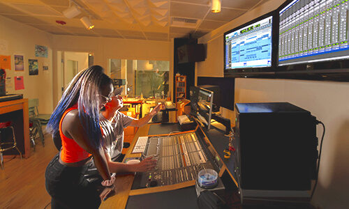 University of Pacific Conservatory recording studio