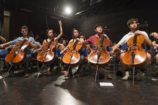 Northwestern Bienen School of Music cellos