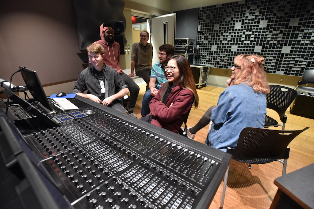 University of Michigan music - recording studio