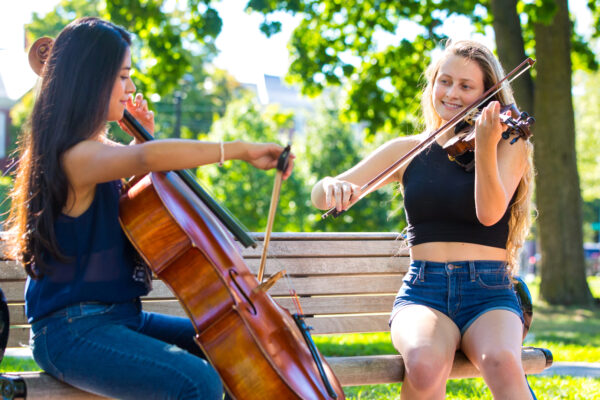 Longy School of Music string students