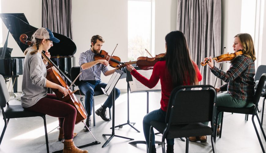 Wheaton Conservatory string quartet