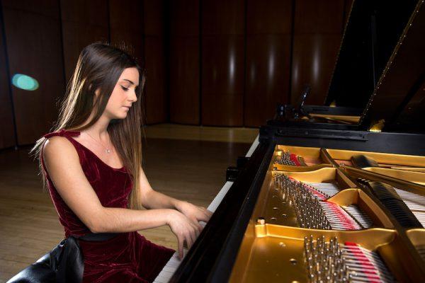 Kutztown University piano student