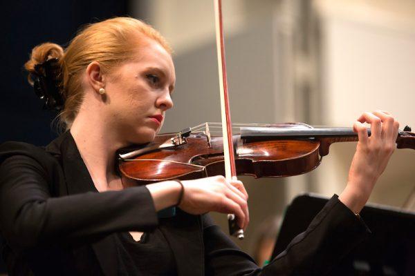 Miami University violin student