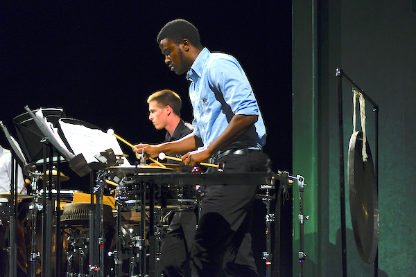 Coastal Carolina University percussion student