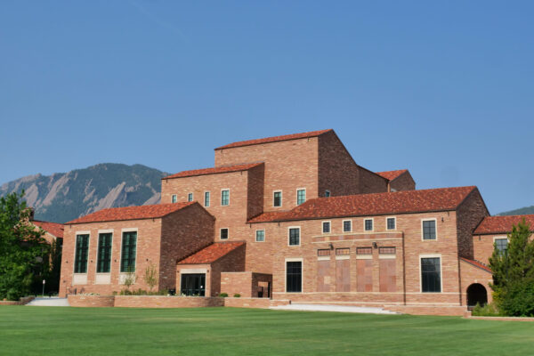 The new wing of the College of Music Imig building at the University of Colorado Boulder. (Photo by Casey A. Cass/University of Colorado)